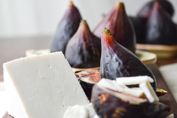 Black Mission Figs with Ricotta Salata