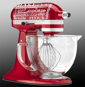 stand mixer side view with decal