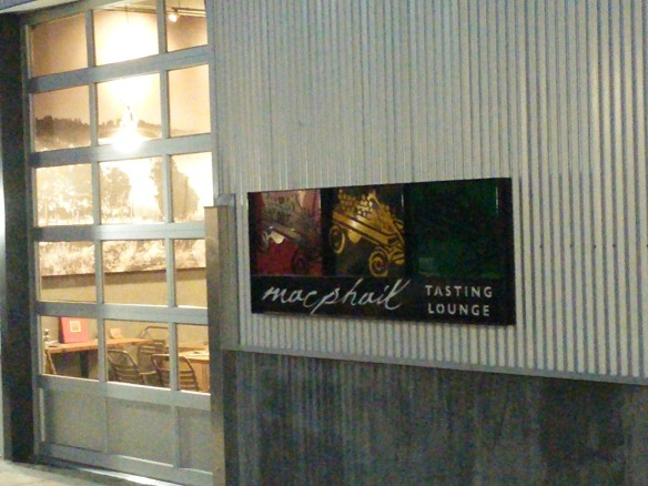 MacPhail Tasting Lounge. Taken at dusk