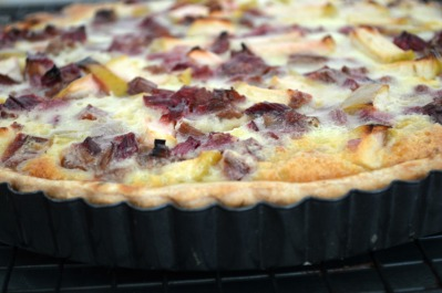 baked rhubarb & thyme tart