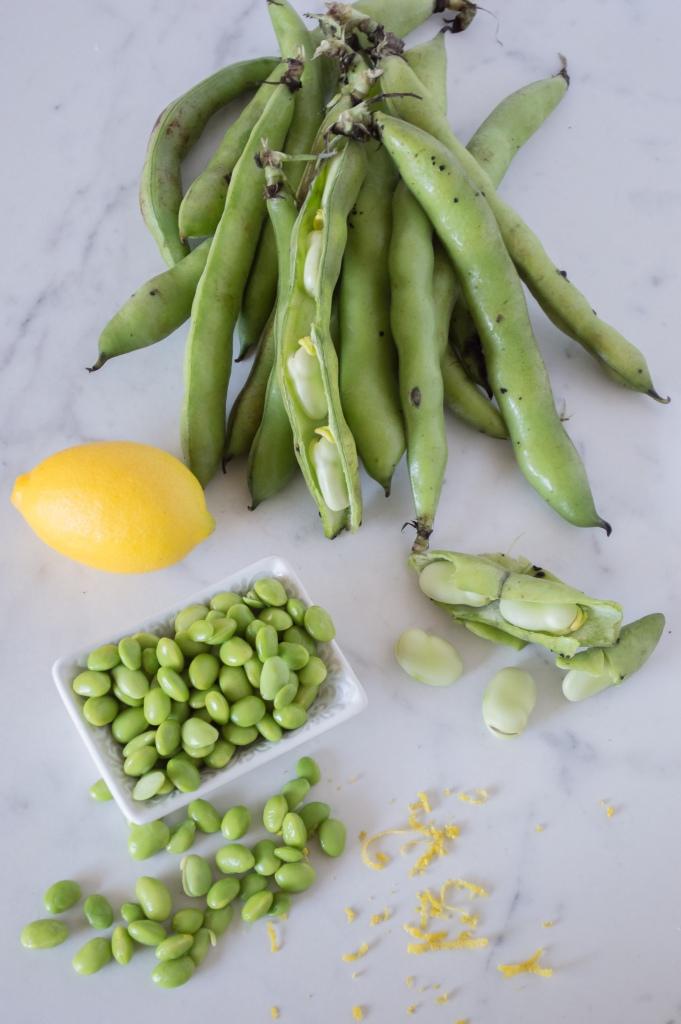 fava beans and edamame