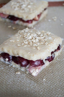cherry scones before baking