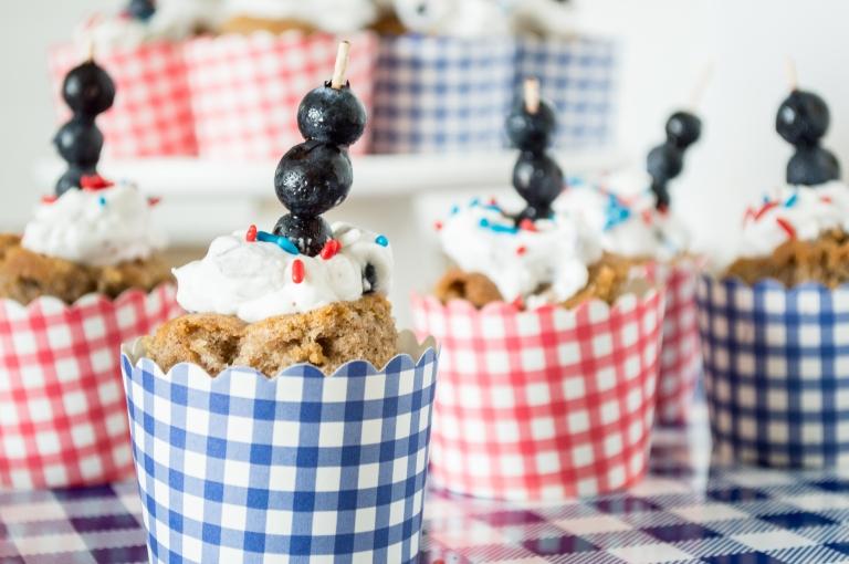 apple spice cake with fresh blueberry cream | whiskandmuddler.com
