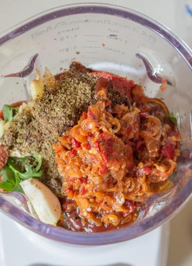 east meets west sauce in blender | whiskandmuddler.com