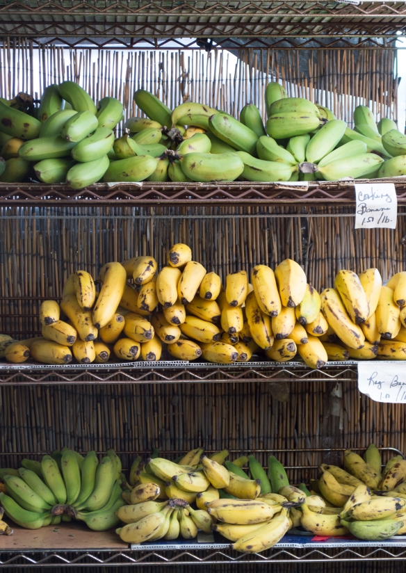"""apple bananas"" which the locals call ""cooking bananas"" 