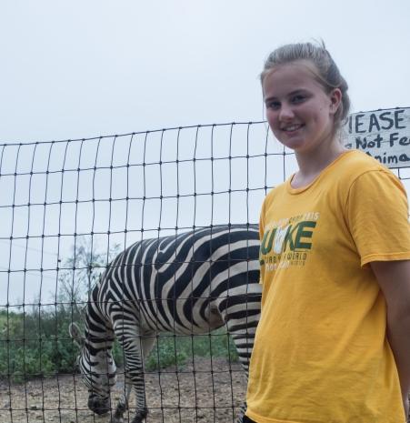 yep, a zebra. my niece Grace