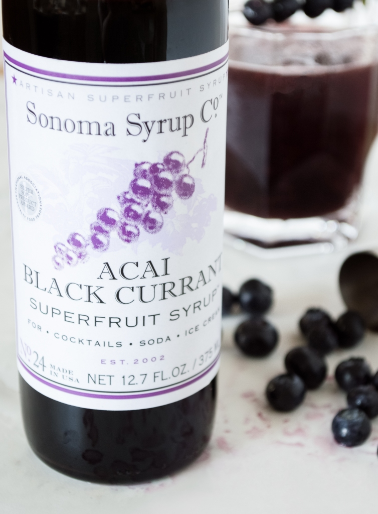 acai & black currant superfruit syrup | sonoma syrup co. | whiskandmuddler.com