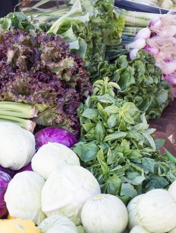fresh veggies at SRCFM | whiskandmuddler.com