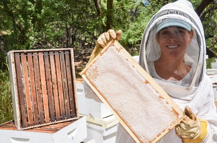 Amy and Michael with the bees | Rare Hawaiian Honey Company | whiskandmuddler.com