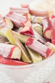 Date and Rhubarb Crumble Slice | whiskandmuddler.com