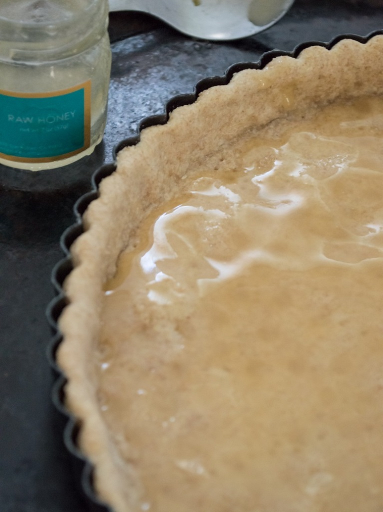 pear camembert honey tart with honey | whiskandmuddler.com